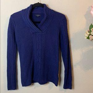 Nautica Knit V-Neck Wrap Sweater